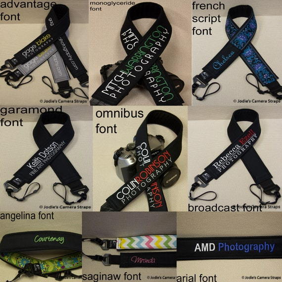 Camera Strap Personalization Add-On