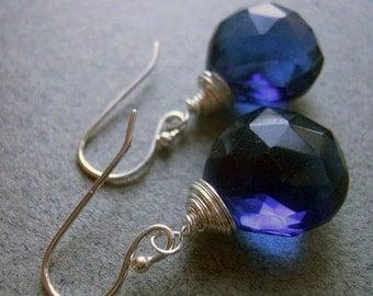 FLASH SALE 20% OFF, Kyanite colored earrings, Kyanite blue quartz earrings