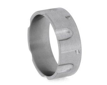 Revolver Ring for Men, Custom Titanium Ring, Mens Wedding Band