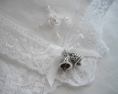 Imported Irish Linen And Lace White Wedding Handkerchief Irish Bells Of Ireland Memento Keepsake Bride MOB MOG Thank You Shower Gift