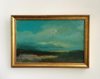 Quiet Morning- Framed- Small Painting - Original Painting- 7 x 10  inch - Beach Study Painting - Peaceful- Collectible - Fine Art