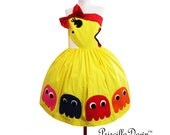 Reserved Pac man Mrs pacman Styled Dress in Cotton