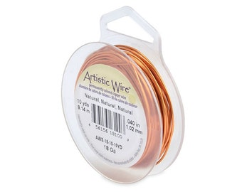 Artistic Wire 18 Gauge Natural Copper 41117  Round Wire, Jewelry Wire, Craft Wire, Copper Wire, Wire Wrapping, 18ga Soft Temper Wire