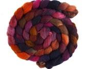 Second Quality Braids: Falkland Wool Roving - Hand Dyed Spinning or Felting Fiber Fiber, Set 3, 4 ounces