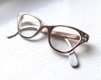 Small Eyeglass Frames For Thick Lenses : 1960s French Thick Round Eyeglass Frames by ...