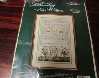Elsa Williams Counted Cross Stitch Kit The Chase 29635 Sealed and Ready to Stitch