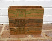 Vintage Wooden Cheese Box Boxes Vintage Wood Crate Crates Shadow Box Dovetail Corners Vintage Kraft Cheese Box Boxes