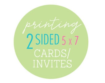 Printing double-sided of heavy card stock 5x7 photo cards or invitations