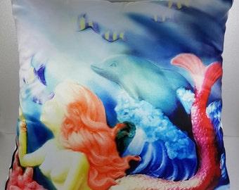 Mermaid Selena - Throw Pillow Cover - 45cm * 45 cm