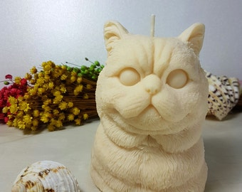 Kitty Candle - 3D Handmade Scented Beeswax Candle