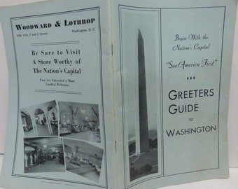 Antique Guidebook A Greeters Guide of Washington D.C.
