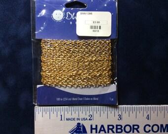 Fine Cable Chain Gold colored