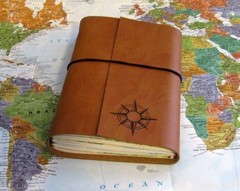 compass explorer travel journal with maps option to monogram by tremundo