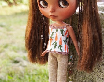 Summer Top for Blythe Dolls - Carrot Top