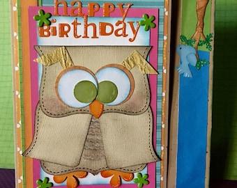 Happy Birthday 5x7  Greeting Card, Happy Birthday Greeting Card, Greeting Card With Matching Envelope, From Owl of Us