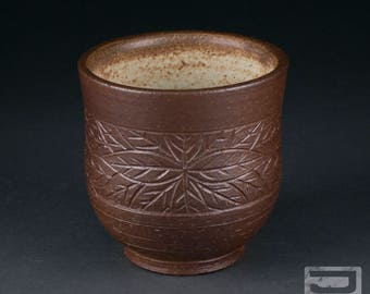10 oz Salt-Fired Stoneware Yunomi (tea cup)