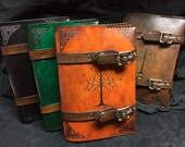 Leather Lord of The rings Tree of Gondor journal - day planner - book cover
