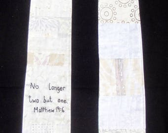 Reverse  Modern Clergy Stole | Wedding Ordinary Times | No Longer Two But One