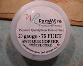 Antique Copper 20 Gauge Wire from ParaWire - 75 feet