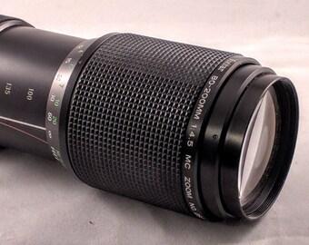 Vivitar MC 80-200mm f/4.5 FD Mount zoom lens
