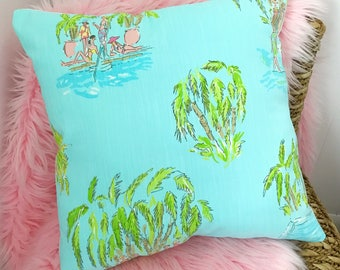 New Pillow made with Lilly Pulitzer In The Slim fabric, 3 sizes available