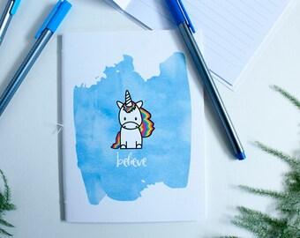 Unicorn Journal – Unicorn Notebook – Unicorn Party Favor – Unicorn Birthday – Lined Journal – Lined Notebook – Travelers Notebook