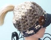Ready to Ship Ponytail Messy Bun Newsboy Hat