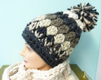 Ready to Ship Big  Chunky Puff Slouchy Hat