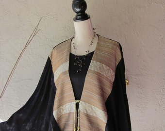 Cocoon Jacket With Gold Lame Front
