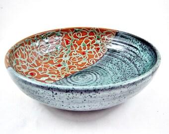 Ceramic serving bowl, pottery bowl, Modern ceramics, home decor pottery - IN stock