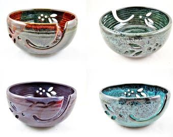 Large Yarn bowls , Knitting bowls , pottery yarn bowls - Made to order