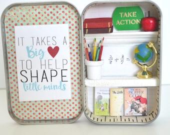 Tiny Tin Teacher's Room ~ Take Action