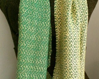 Golden Green Bamboo and Cotton Scarf