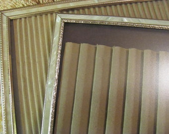Set 2  Faux Filegree Mother of Pearl 8 x 10 Retro Picture Frames