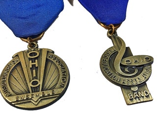 Ohio Music Educators Blue Ribbons Dieges & Clust Ensemble Band Set Medals
