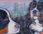 reserved, BerneseBeauties, custom Oil Portrait Painting by puci