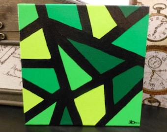 Mosaic  - Original Art, Acrylic Painting, abstract art, canvas board