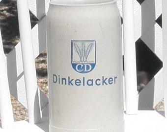 German Beer Stein 1 Liter Pottery CD Dinkelacker Octoberfest 1970 Vintage