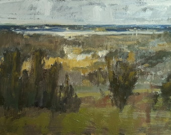 January at the Overlook   Oil Painting   6.5 x 8.5