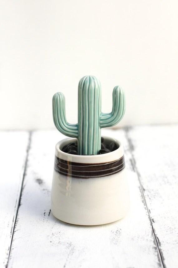 porcelain cactus and pot
