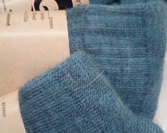 Alpaca crew socks teal
