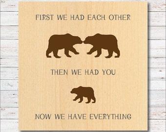Bear Nursery Decor, Bears, Bear Nursery, Woodland Nursery Decor, Wall Decor, Baby's Room, Woodland Wall Art, Nature, Ourdoors, Mountains