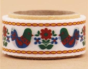 191199 white die-cut bird animal Masking Tape deco tape Japan