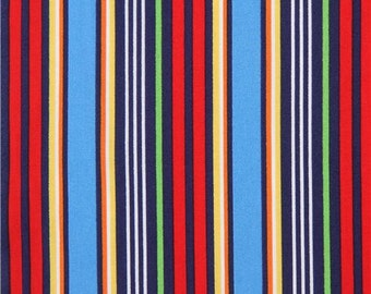 213615 blue red Michael Miller fabric colorful stripe Freeway