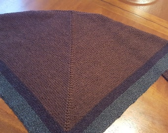 Outlander-Inspired Claire's Knit Triangle Shawl, Custom-Made