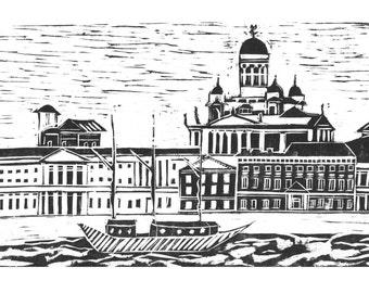 Helsinki art postcard