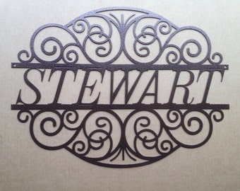 Decorative Scroll Design with Personalized Text Field (J22)