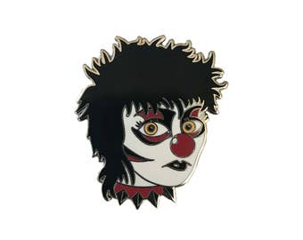 Siouxsie Clown Hard Enamel Lapel Pin by Matthew Sylar x Wild Tiger Pins