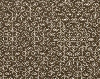 "PWPG051 Parson Gray Katagami Netting Thatch Brown Tonal Blender Quilting 18"" BTHY Westminster Half Yard 18"" Quilt Fabric HY Mod Modern"