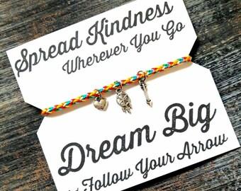 Spread Kindness Bracelet - Rainbow